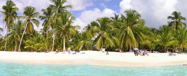 Isla Saona paradise in the Caribbean Sea