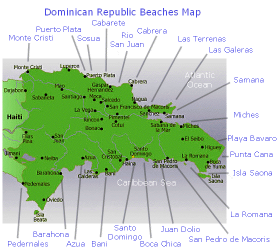Map of Dominican Beaches