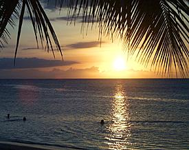 Picture of a Dominican sunset