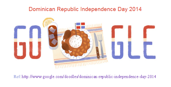 Google doodle for Dominican independence day