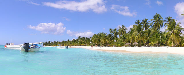 Tropical beach Isla Saona Dominican Republic