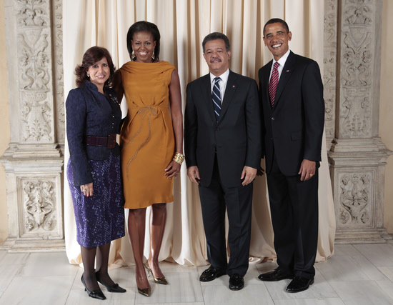 President Leonel Fernandez and the Obamas
