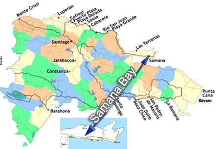 Samana Bay - Dominican Republic map