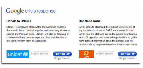 Help Haiti - Google Crisis Relief