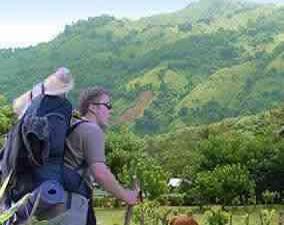 Hiking near Bonao Dominican Republic